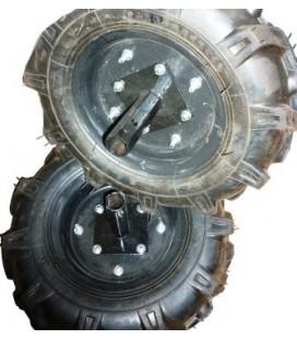 """2 бр. гумени колела 8"""" комплект с оси на шестограм"""